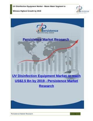 UV Disinfection Equipment Market - Share, Size, Trend, Analysis, to 2019
