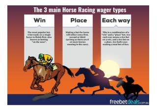 Horse Racing Bet Types