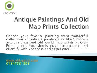 Antique Paintings And Old Map Prints Collection