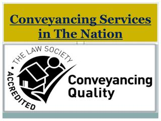 Conveyancing Services in The Nation