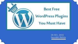 Best Free WordPress Plugins You Must Have