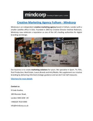 Creative Marketing Agency Fulham - Mindcorp