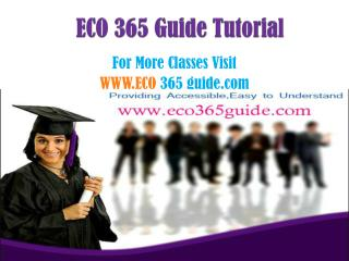 ECO 365 Guide  Peer Educator  /eco365guidedotcom