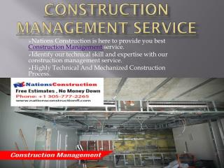 Construction Management Service