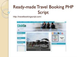 Ready-made Travel Booking PHP Script