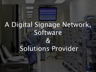 A Digital Signage Network, Software by IqBusiness