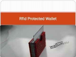 Rfid Protected Wallet
