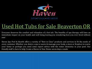 Used Hot Tubs for Sale Beaverton OR