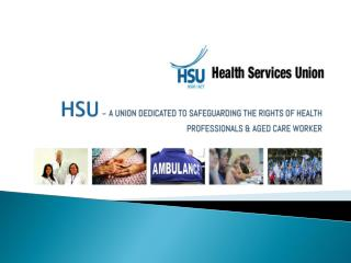 A union dedicated to safeguarding the rights of health Professionals & Aged care workers