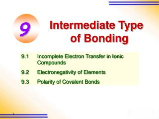 Intermediate Type of Bonding