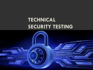 Technical Security Testing