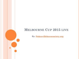 Watch Melbourne Cup Live