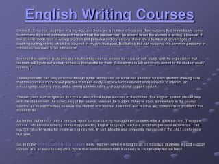 Online English Writing Courses