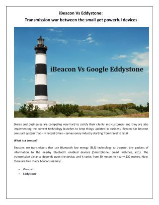 iBeacon Vs Eddystone: The creative war between the beacons