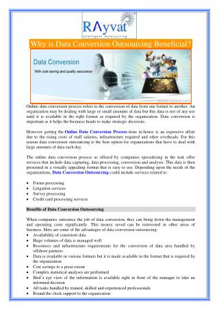 Why is Data Conversion Outsourcing Beneficial?