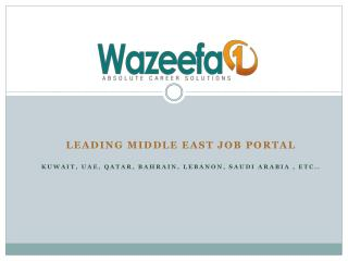 Jobs in Kuwait - Wazeefa1