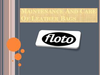 Get Leather Duffle Bags Online At Floto Imports