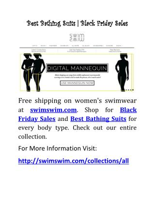 Best Bathing Suits | Black Friday Sales