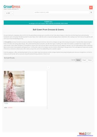 Ball gown prom dresses and gowns