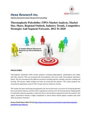 Thermoplastic Polyolefins (TPO) Market Analysis, Market Size, Share, Regional Outlook, Industry Trends, Competitive Stra