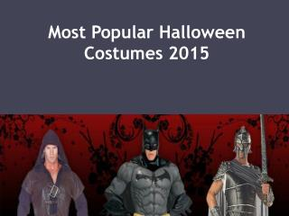 Most Popular Halloween Costumes 2015