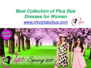 Best Collection of Plus Size Dresses for Women - www.chiclyfabulous.com