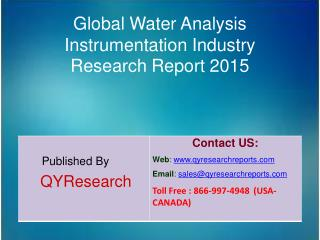 Global Water Analysis Instrumentation Industry 2015 Market Analysis, Forecasts, Study, Research, Outlook, Shares, Insigh