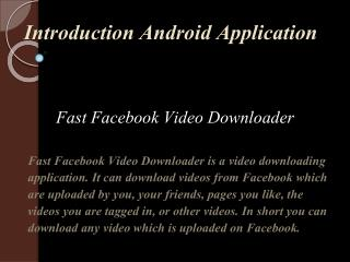 Free Fast Facebook Video Downloader
