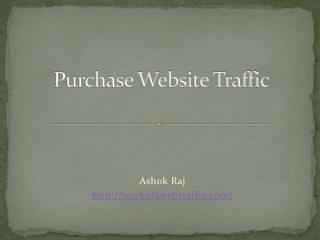 Website Traffic For Your Site