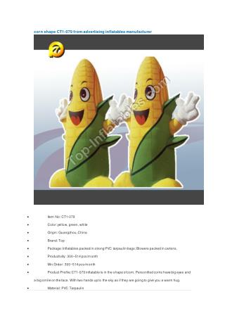 corn shape CT1-079 from advertising inflatables manufacturer