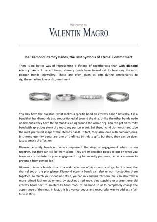 The Diamond Eternity Bands, the Best Symbols of Eternal Commitment