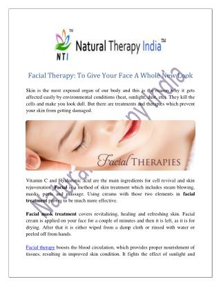 Facial Therapy | Beauty Services In India