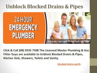 Blocked Drains Perth