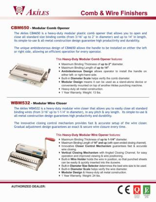 Comb & Wire Binding Finishers by PrintFinish.com