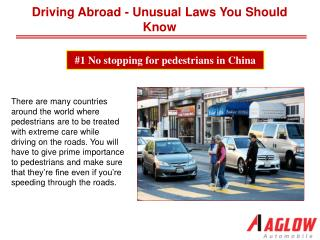 Driving Abroad - Unusual Laws You Should Know