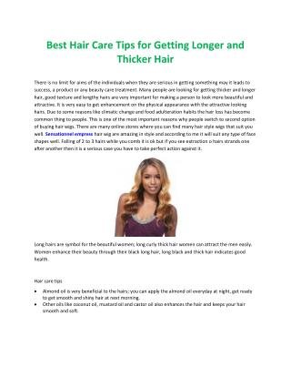 Best hair care tips for getting longer and thicker hair