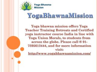 Certified yoga instructor course India