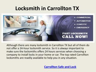 Carrollton safe and lock