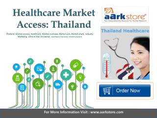Aarkstore   Healthcare Market Access Thailand