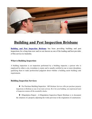 Building and Pest Inspection Brisbane | Building Inspectors