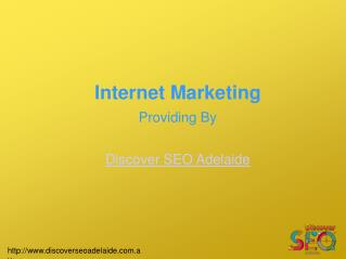 Internet Marketing Services offer by Discover SEO Adelaide