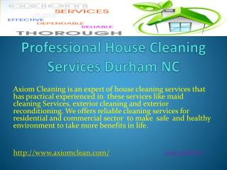 Professional House Cleaning Services Durham NC