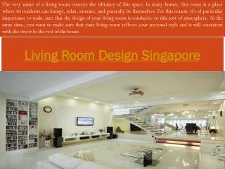 Living Room Ideas Singapore