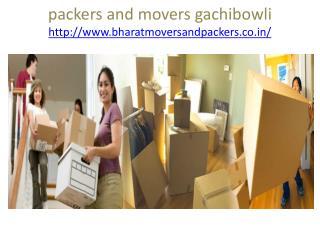 Movers and packers gachibowli