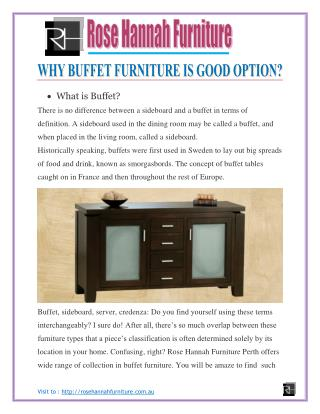 Why buffet furniture is good option