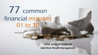 77 Common Financial Mistakes