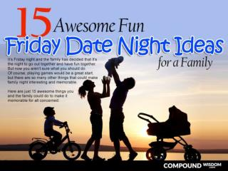 15 Awesome Fun Friday Date Night Ideas for a Family