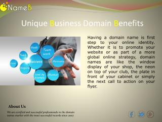 Unique Business Domain Name