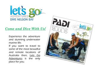 Professional Centre for PADI Scuba Diving in Australia