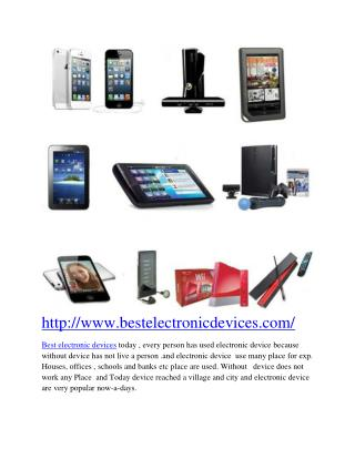 Best Electronics Devices | Home